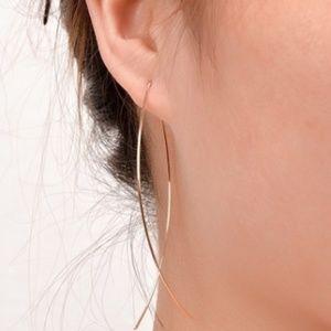 Thin Gold Earrings